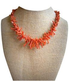 Coral necklace from The Pear Tree.