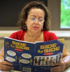 Maria Marcus attended an ESL class at the Senior Center in Marlborough.