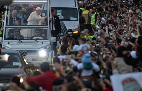 Cardinals who accompanied the pope to Rio fretted over his safety.