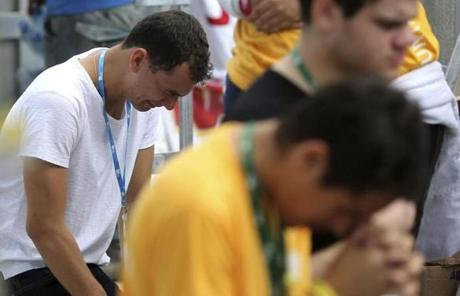 Worshippers prayed during the event, which was the closing of the 28th World Youth Day.