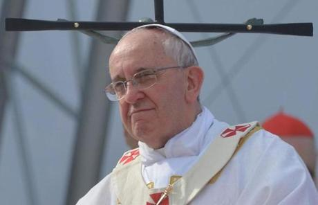The pope's visit to Brazil is his first overseas trip of his papacy.