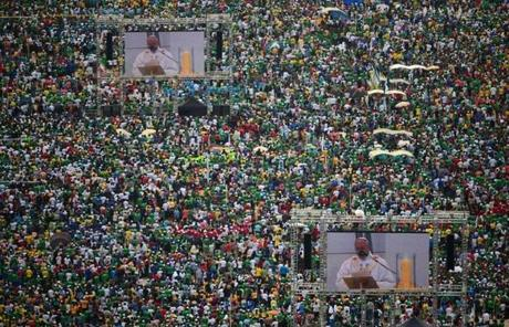 As many as three million people attended the Mass.