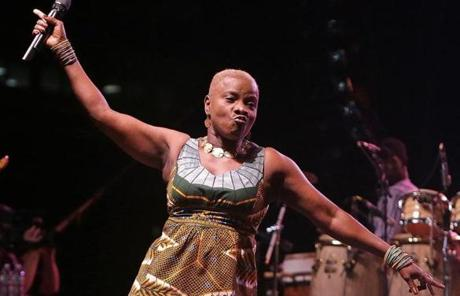 Grammy Award-winning musician Angélique Kidjo performed Saturday night during the second day of the three-day Boston Summer Arts Weekend festival in Copley Square.