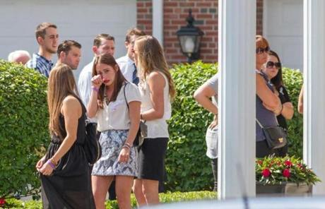 Hundreds of people attended the wake for Amy Lord, who was killed in on Tuesday in Boston.
