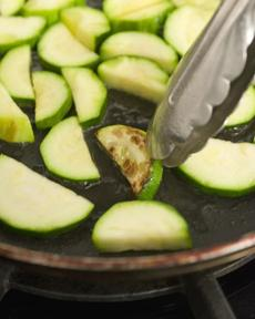 TIP To give zucchini some color (and flavor), cook in a single layer and resist the temptation to stir for 2½ minutes.