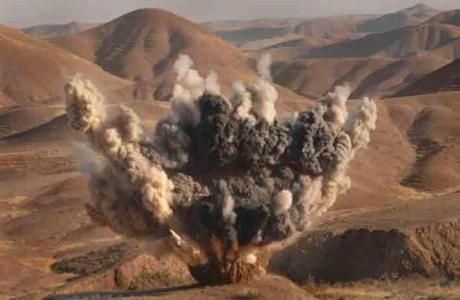Unexploded ordnance was destroyed in Iraq.