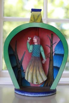 Concord Massachusetts 08/07/2013 Author Alice Hoffman (cq) home. A fairytale handmade toy that she loves. ( Jonathan.Wiggs )Topic:Section:Reporter: Topic: Reporter: