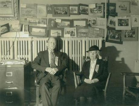 Almanzo and Laura Ingalls Wilder at DeSmet, S.D., circa 1930.