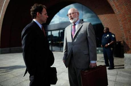 "The jury is ""clearly looking closely at the evidence,"" said defense lawyer J.W. Carney Jr. (right, with Hank Brennan)."