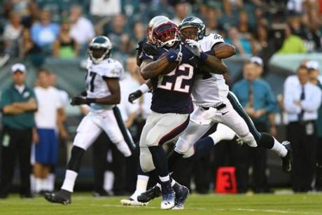Stevan Ridley, who started the opening drive with a 62-yard run, later scored the first touchdown on a 1-yard plunge.