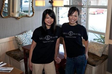 Co-owners Mia Lunt (left) and Sa Nguyen at Soall Bistro in Marblehead.