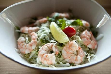 Shrimp cabbage salad.
