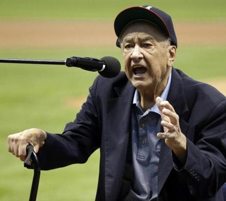Former Milwaukee Brave Johnny Logan spoke June 6 during introduction to the Miller Park Walk of Fame.