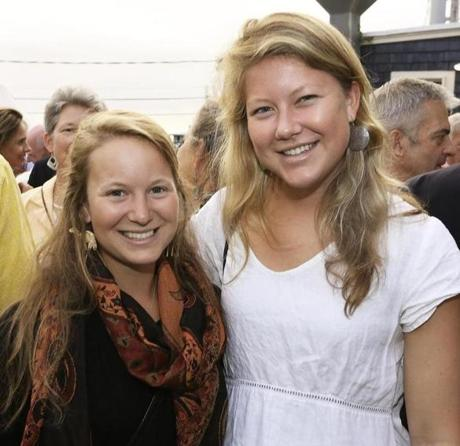 Anna Leschen-Lindell (left) and her sister Kallie of Falmouth.