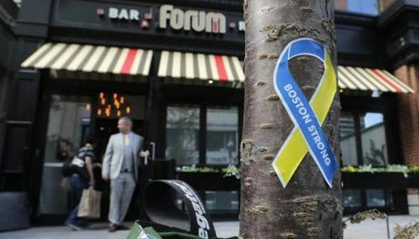 Forum is the last of the Boylston Street businesses hit by the Marathon attacks to reopen.