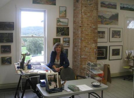 Oct. 5th and 6th, artist Stephanie Gordon welcomes visitors in her Bradford studio, a stop on the Vermont North Studio Tours.