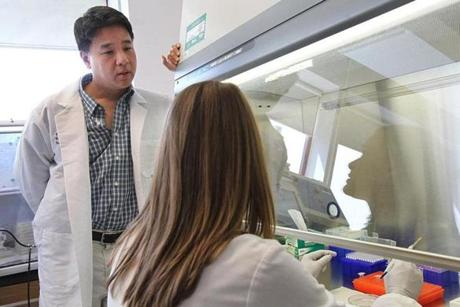 Tufts Lyme researcher Dr. Linden Hu spent four years getting federal approval to place ticks on volunteers for his work.