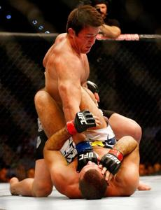 Chael Sonnen punched Mauricio Rua in their light heavyweight bout.