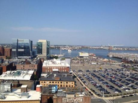 View from 315 on A, one of the new apartment buildings in the Seaport District.