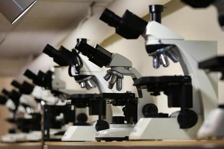 Start-ups can buy used microscopes and other equipment for thousands of dollars less than the price of a new one.