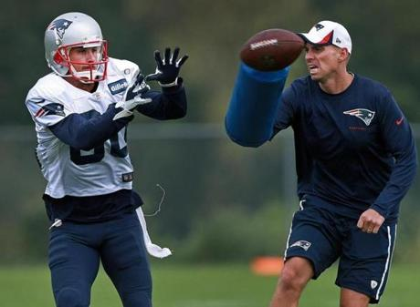 Danny Amendola was back on the practice field today after missing time last week.