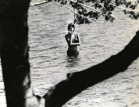 September 7, 1978:  A lone swimmer found the water a bit chilly.