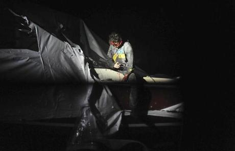 Tsarnaev exited the boat where he was found.