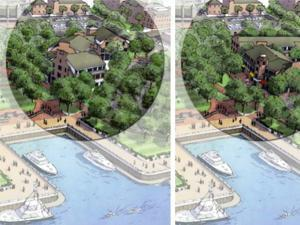 An artist's rendering for the changes to the Newburyport waterfront.