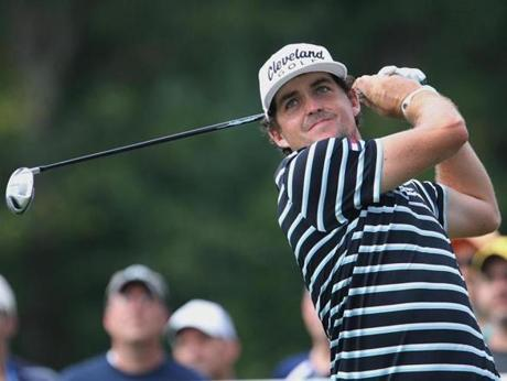 New Englander Keegan Bradley, who is always geared up for TPC Boston, continued his solid play in Norton with a 69 in the first round.
