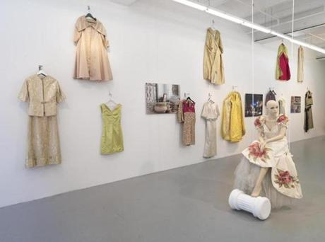 The retrospective of Rose Cherubini's dresses at Samson Projects.