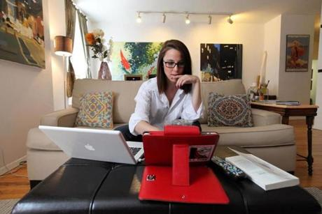 S.E. Cupp working in her New York apartment earlier this year.