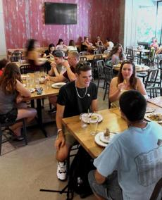 Newly renovated Hamshire Dining Commons at UMass Amherst can accommodate 650 students at once.