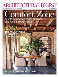 Tom Brady and Gisele Bundchen's house in Brentwood was featured in Architectural Digest.