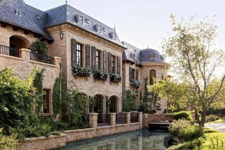 The California home of the Patriots quarterback and his supermodel wife includes a moat, which turns out to be more of a koi pond.