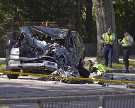 Six people, including four teenagers, were injured in a 2013 crash on the Arborway in Jamaica Plain.