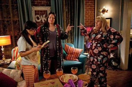"From left, Liza Lapira, Lauren Ash, and Rebel Wilson in ""Super Fun Night."""