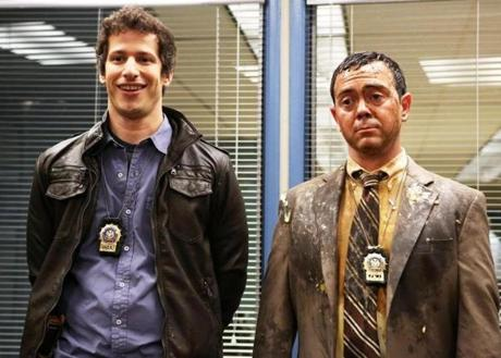 "Andy Samberg (left) and Joe Lo Truglio in ""Brooklyn Nine-Nine."""