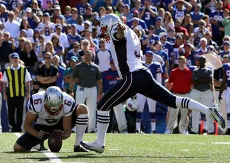 Stephen Gostkowski kicked a 35-yard game-winning field goal with nine seconds on the clock. The Patriots won, 23-21.