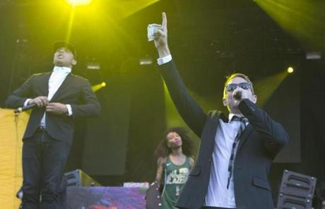 Diplo (right) and Walshy Fire of Major Lazer got the crowd going.