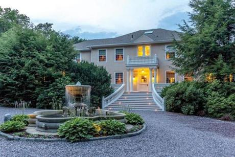 Despite an extensive makeover, this 1907 Weston mansion retains much of its original detail.