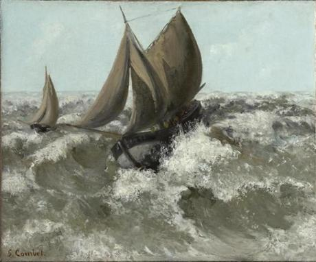 """The Sailboat (Seascape)"" by Gustave Courbet."