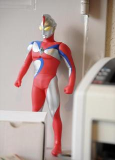 One of Diaz's action figures.