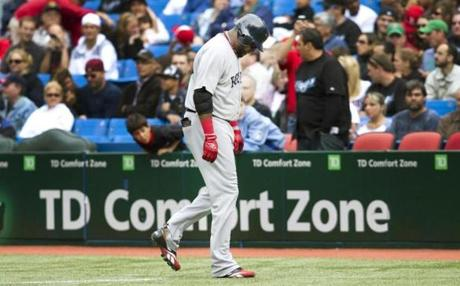 A day game on Sept. 5 in Toronto proved unlucky for the Red Sox and David Ortiz. The team lost starter Josh Beckett to a sprained ankle in the fourth inning.