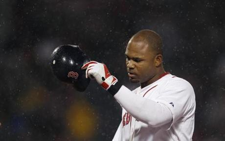 Carl Crawford went 0-for-3 in the loss to his former team.