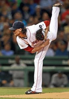 In his second start since coming off the disabled list, Clay Buchholz delivered six strong innings, giving up just one run on two hits with three strikeouts.