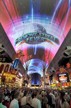The Fremont Street Experience is a five-block entertainment complex in the historic downtown area.