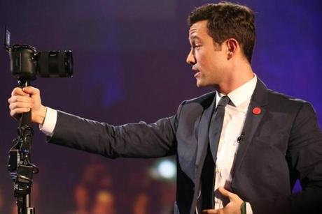 Gordon-Levitt hosting his hitRECord television show. t