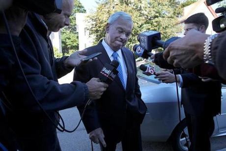 Mayor Thomas Menino went to his polling place to vote for someone other than himself.