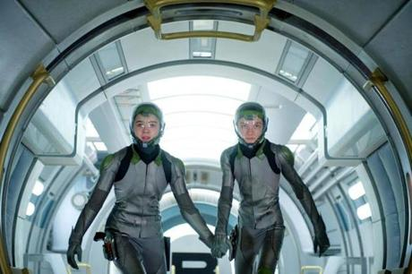 "Steinfeld and Asa Butterfield in ""Ender's Game."""