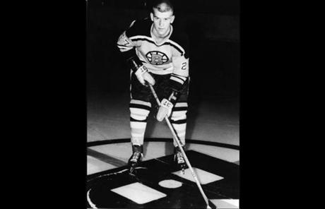 Orr in 1966. His No. 27 jersey and No. 37 gloves #37 indicate this photo may have been taken on one of his first days with the team.